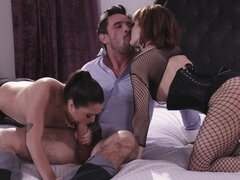 Passionate anal sex with two hot Karlee Gray and Ava Courcelles