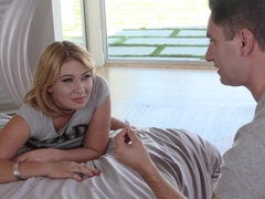 Blonde Zelda Morrison seduces her stepbrother and has sex with him