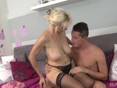 Naughty nurse Jane grinds her wet pussy up and down his dick