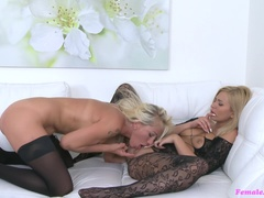 Female Agent (FakeHub): Busty Babe Licks Agent for Money