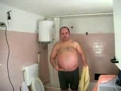 Obese man gets down and dirty Simone
