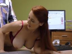LOAN4K. Red-haired dame with phenomenal forms needs money
