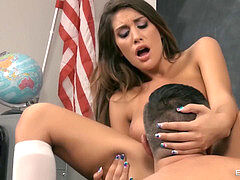 scorching school chick - August Ames
