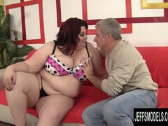Splendid Bbw Stazi Enjoyments an Elderly Boy with Her Phat Bumpers and Round Vulva