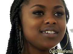 ebony stepteen facialized teen