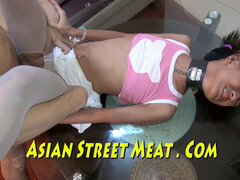 chained Thai submissive Submits For jelly And Cash
