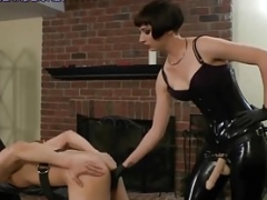 Female domination Mistresses fuck and additionally torment their bound male pigs