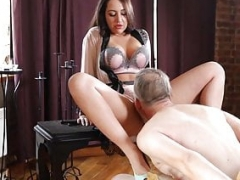 Bigtitted female domination mistress