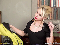 platinum-blonde jack off instructor Chloe Toy teases in nylons and heels jacks