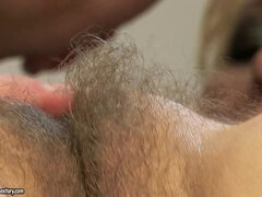 Hungarian Granny with Hairy Pussy Porn Video