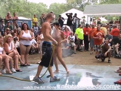 Inexperienced Bare Challenge At This Years Nudes A Poppin Fest In Indiana