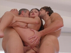 Adria Rae gets double dicked in various positions