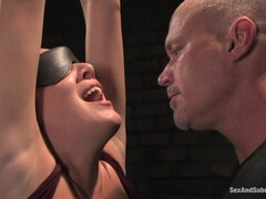 Blond Butt Fuck Dildo Bondage - BDSM sex