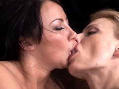 Two whores kiss one another and additionally they likewise lick some penises as well