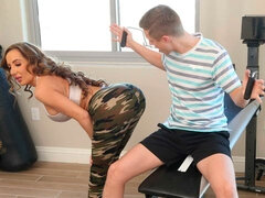 Richelle Ryan works up a sweat with son's friend before working that cock