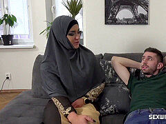 Slacking muslim wife disciplined