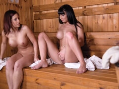 Boobastic Sauna Threesome