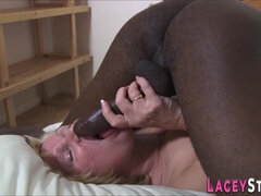 Mommy granny takes hard black pole - interracial MILF 69ing