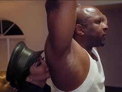 Cop Lela Star fucking a big black cock til screaming orgasm