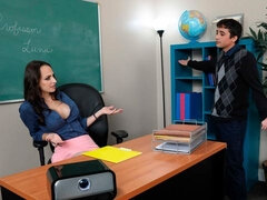 Lexi Luna fucking in the classroom with her innie pussy