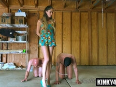 Teen Mistress And Two Old Slaves