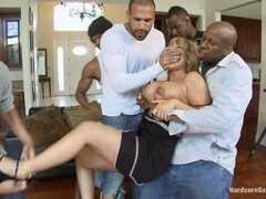 Rich MILF Taken Down & Gangbanged by her Daughters Black Thug Friends
