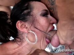 Brutal sex, deepthroat and cumshot with busty whore Franceska Jaimes