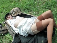 Fur Slut makes Dog in the Meadow