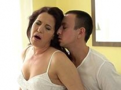 Hot Grandma Making love