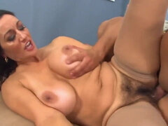 Large breasted mom Persia Monir fucks in hairy pussy for cum