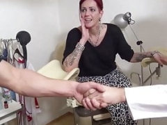 18-19 year old Anica Red Talk to 3some Make love at Gynecologist - German