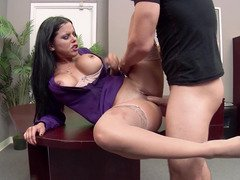 Sexy secretary is able to appease her boss's needs