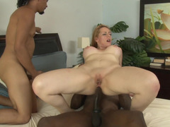 Blonde black penis lover enjoys in this super hot interracial chapter