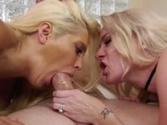 Blonde gals want his seductive pecker