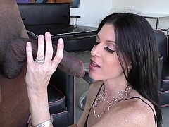 Mom i`d like to fuck sucking a young-looking black flag pole