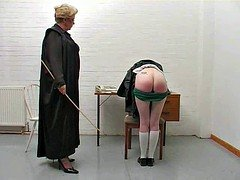 Hot spanking actions make asses red and warm