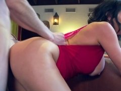 A hot whore has her clothes ripped off and her pussy licked