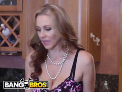 BANGBROS - cougar Julia Ann Stepmom threesome With Latina Maid Abby Lee Brazi