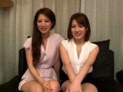 Big-breasted babe in japanese threesome