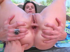 Mesmeric Soccer mom India Summer enjoys having backdoor sex outdoors