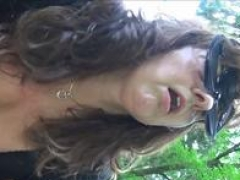 Mature Mature mother fucks in forest with large german cock and additionally get creampie