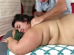 Overweight ass Mia Riley toy sex massage