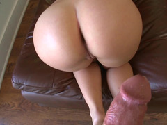 Hard fuck tool enters juicy vagina of blonde dame with awesome ass