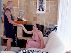 Porn box - trainer works out Marta La Croft massive knockers and pussy nails her tasty rosy gp1441