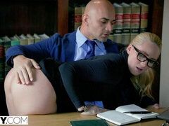 Spicy anal session with a big-bottomed mademoiselle AJ Applegate