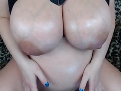 Maggie's Huge Pregnant Veiny Tits