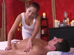 Massage Rooms (SexyHub): Asian babe gives orgasmic handjob
