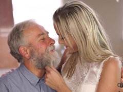 OLD4K. Handsome old dad satisfies winsome mistress in..