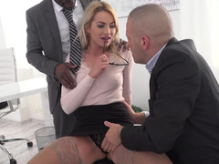 Lady boss is a terrific luck for subordinates who get down and dirty her