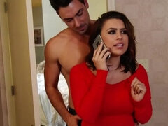 Eva Angelina fucks the bribed stripper & swallows a mouthful